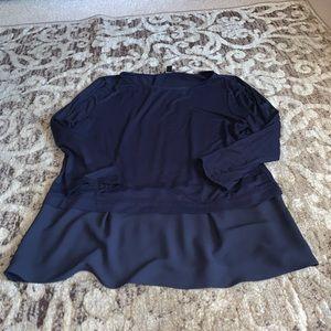 Ann Taylor size L navy top